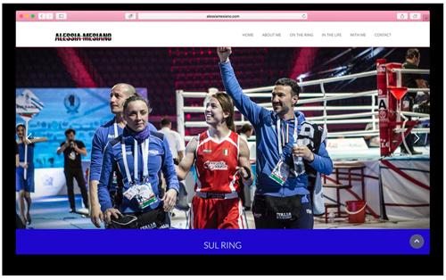 Alessia Mesiano website by Artecopy