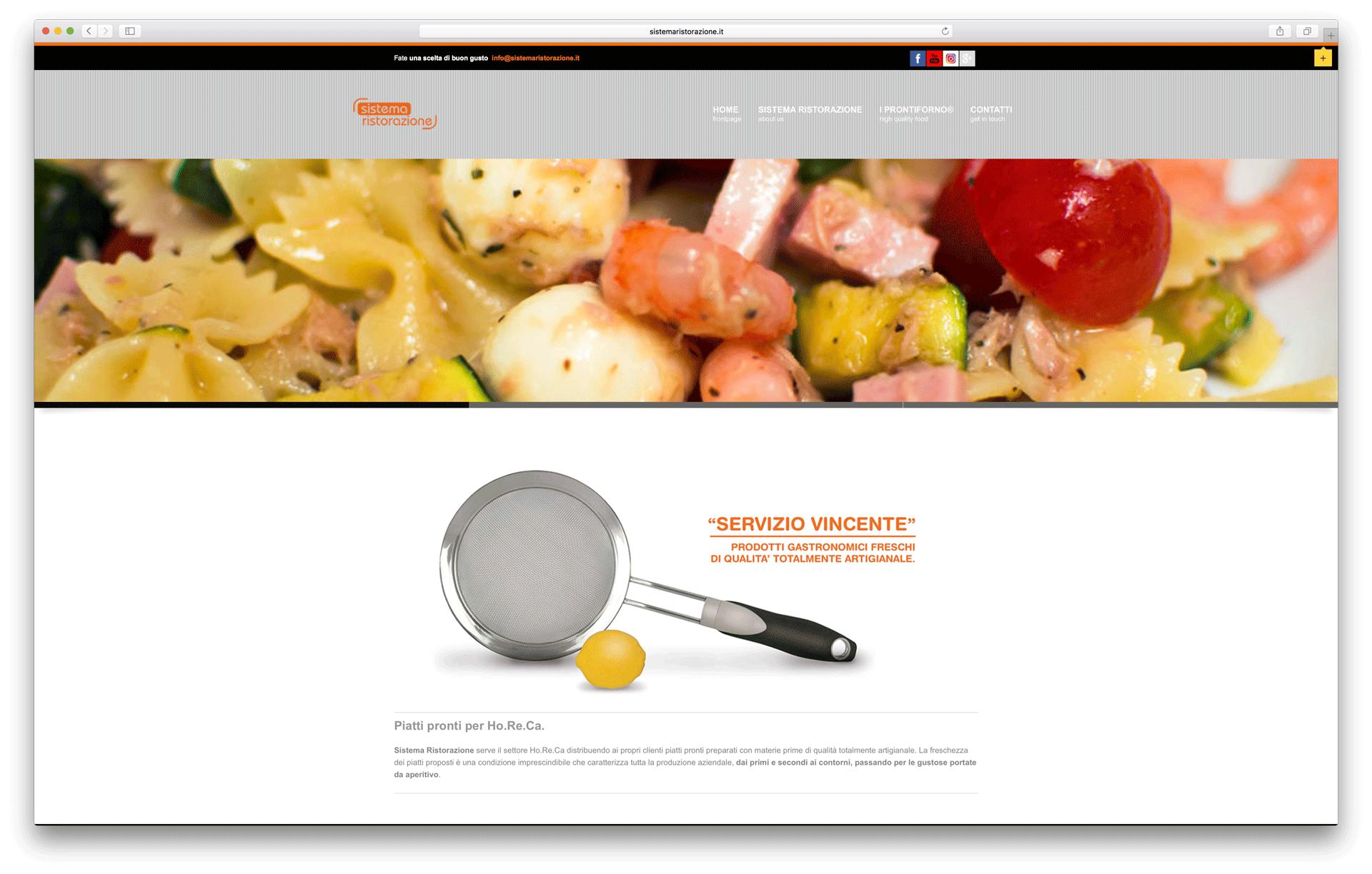 sito web sistema ristorazione