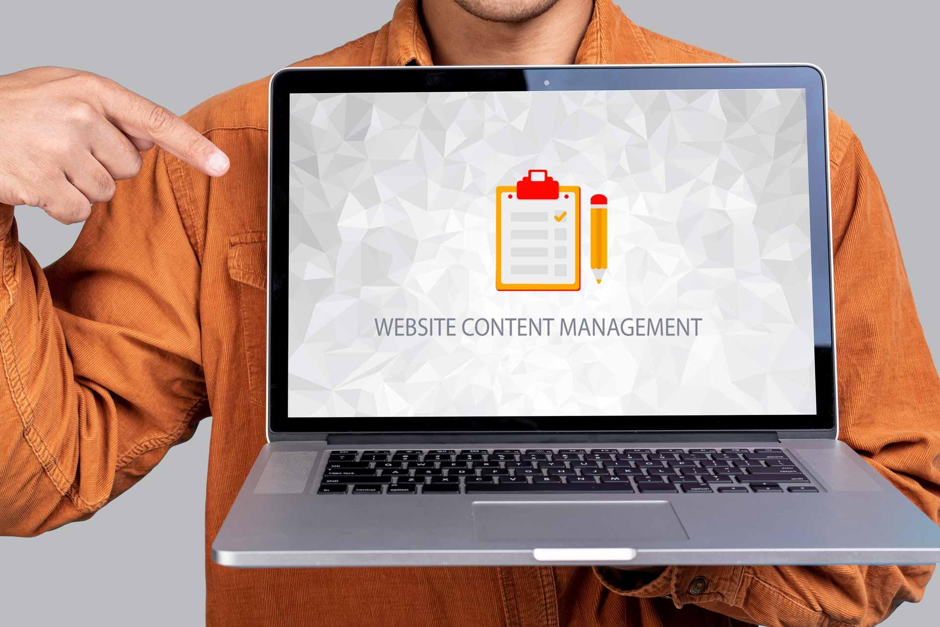Website Content Management Servizio